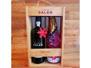 Jamón s portským vínem CÁLEM . Wood